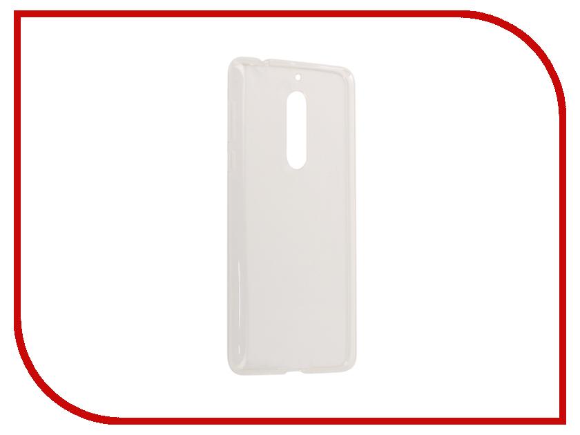 Аксессуар Чехол Nokia 5 Gecko Silicone White S-G-SV-NOK5-WH аксессуар чехол xiaomi mi5c gecko silicone glowing white s g sv xir5c wh