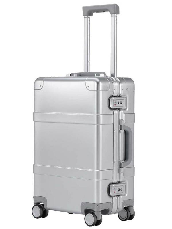 Чемодан Xiaomi Mi 90 Points Smart Metal Suitcase 20 55x37.5x21.5cm 31L Silver