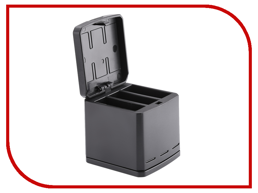 Аксессуар RedLine RL712 - Зарядка для 3х аккумуляторов GoPro аксессуар redline переходник адаптер с gopro на штативный винт rl218