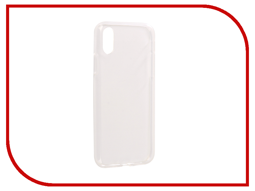 Аксессуар Чехол Svekla Silicone для APPLE iPhone X Transparent SV-APX-WH аксессуар чехол lenovo vibe c2 k10a40 svekla transparent sv lek10a40 wh