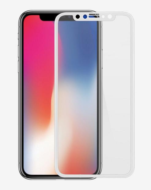 Аксессуар Защитное стекло Ainy для APPLE iPhone X Full Screen Cover 3D 0.2mm White AF-A995B