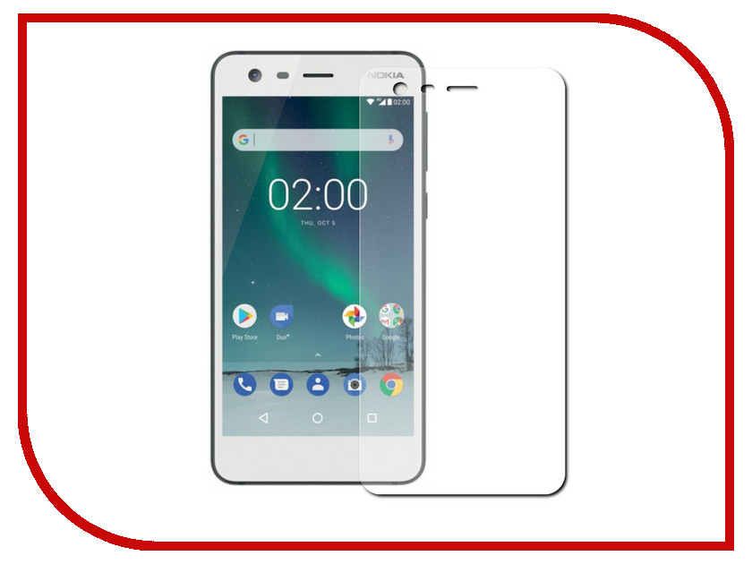 Аксессуар Защитная пленка Nokia 2 LuxCase Суперпрозрачная 53426 аксессуар защитная пленка asus zenfone live zb553kl luxcase суперпрозрачная 55823