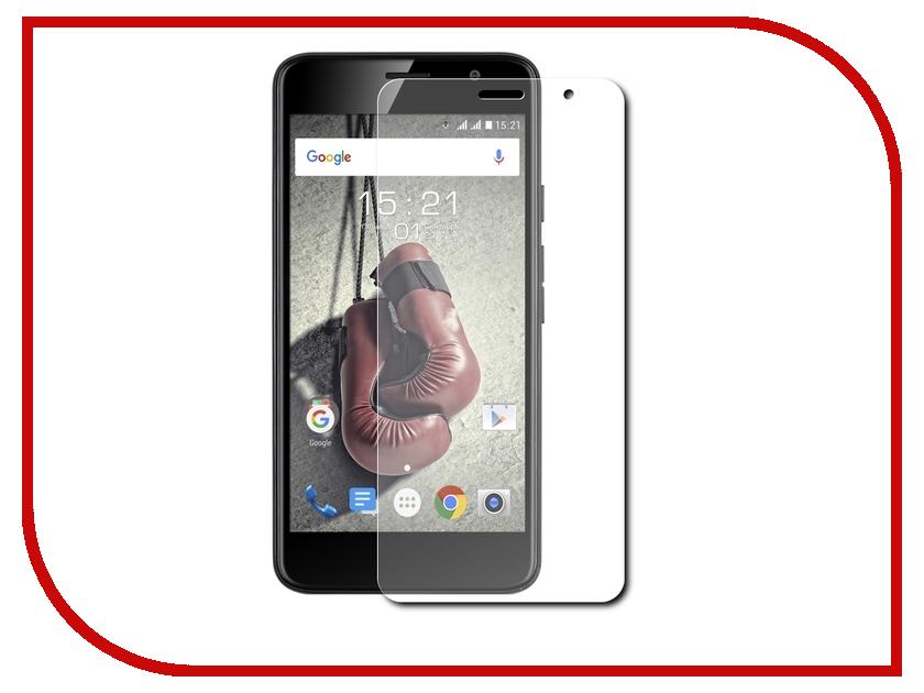 Аксессуар Защитная пленка Fly FS524 Knockout LuxCase Суперпрозрачная 56128 смартфон fly fs524 knockout lte black