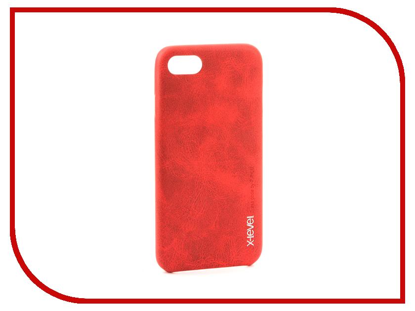 Аксессуар Чехол X-Level Vintage для APPLE iPhone 7/8 Red 15421