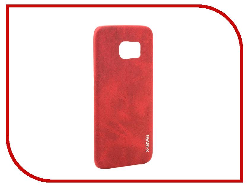 Аксессуар Чехол Samsung Galaxy S7 Edge G935F X-Level Vintage Red 15441 аксессуар чехол samsung galaxy s7 edge g935f x level vintage beige 15440