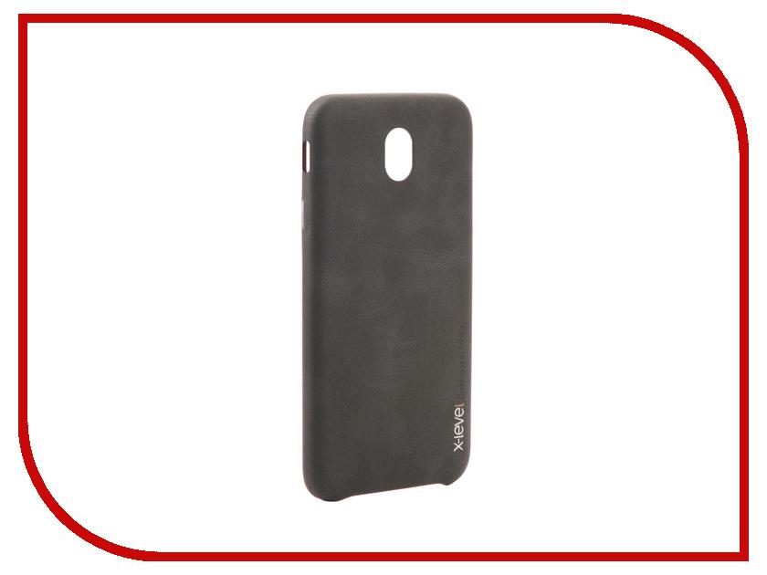 Аксессуар Чехол Samsung Galaxy J7 2017 X-Level Vintage Black 15439 аксессуар чехол samsung galaxy s7 edge g935f x level vintage beige 15440