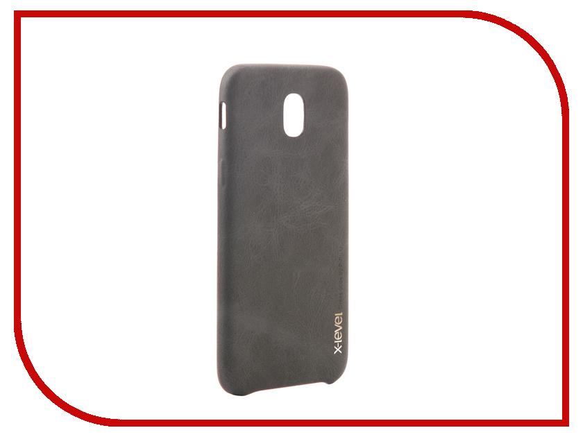 Аксессуар Чехол Samsung Galaxy J5 2017 X-Level Vintage Black 15436 аксессуар чехол samsung galaxy s7 edge g935f x level vintage beige 15440