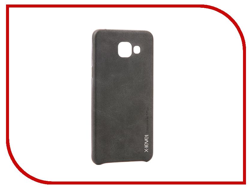 Аксессуар Чехол Samsung Galaxy A5 2016 X-Level Vintage Black 15428 аксессуар чехол samsung galaxy s7 edge g935f x level vintage beige 15440