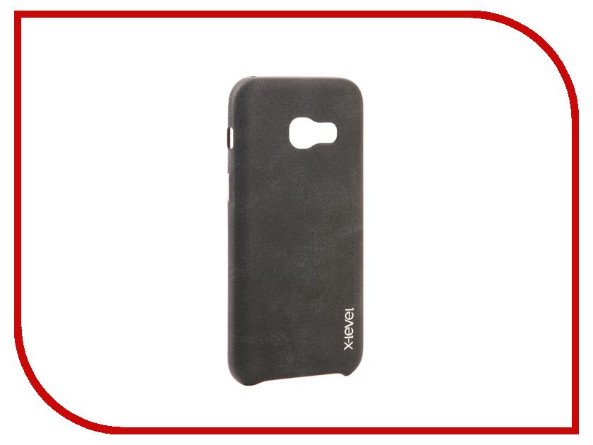 Аксессуар Чехол Samsung Galaxy A3 2017 X-Level Vintage Black 15427 аксессуар чехол samsung galaxy s7 edge g935f x level vintage beige 15440