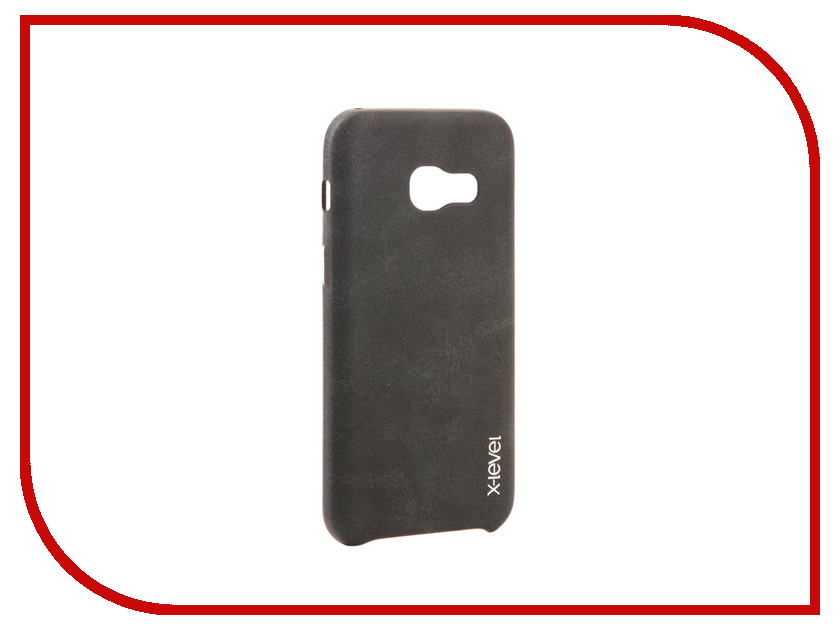Аксессуар Чехол Samsung Galaxy A3 2017 X-Level Vintage Black 15427 аксессуар защитное стекло samsung galaxy a3 2017 solomon full cover black