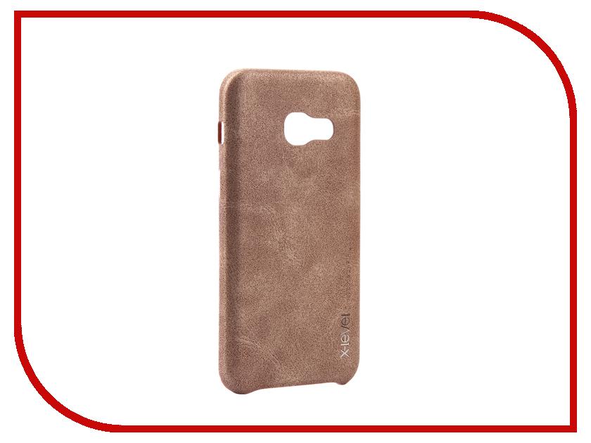 Аксессуар Чехол Samsung Galaxy A3 2017 X-Level Vintage Beige 15426 аксессуар чехол samsung galaxy s7 edge g935f x level vintage beige 15440