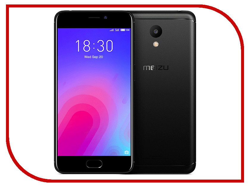 Сотовый телефон Meizu M6 32Gb Black смартфон meizu m6 note m721h 32gb