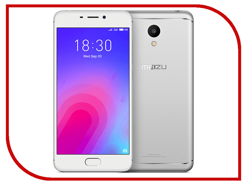 Сотовый телефон Meizu M6 16Gb Silver сотовый телефон meizu m6 16gb black