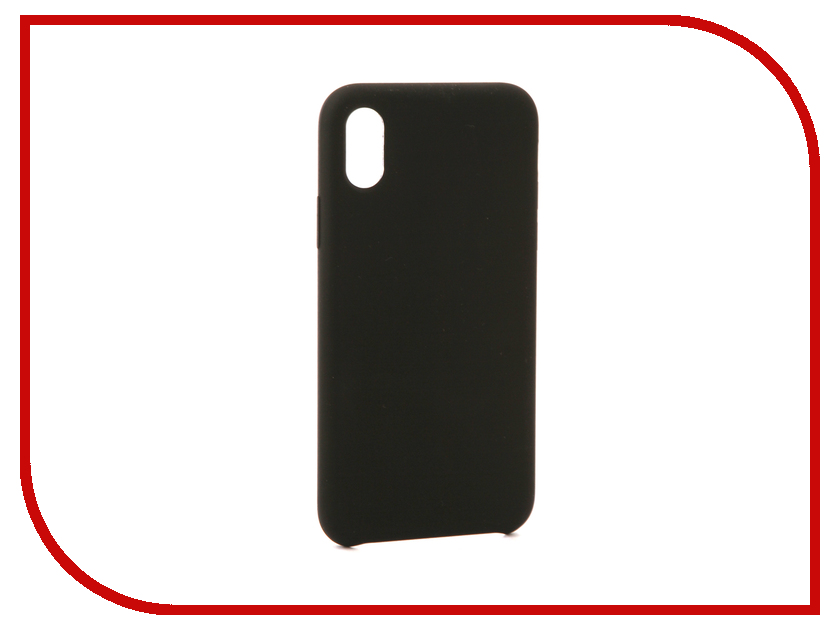 Аксессуар Чехол BROSCO Soft Rubber для APPLE iPhone X Black IPX-SOFTRUBBER-BLACK аксессуар чехол htc u ultra brosco black htc uu book black