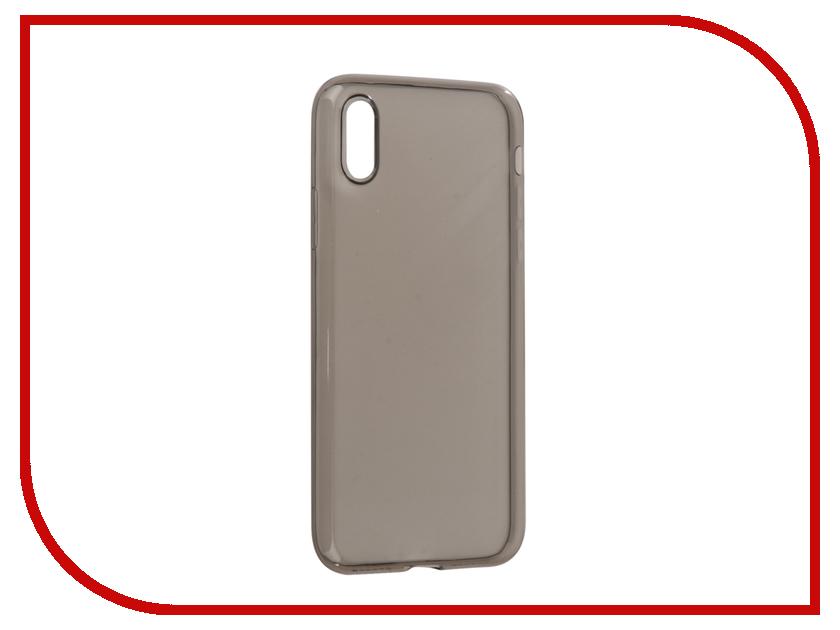Аксессуар Чехол BROSCO Silicone для APPLE iPhone X Black IPX-TPU-BLACK