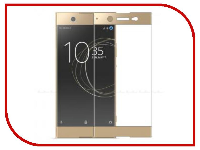 Аксессуар Защитное стекло Sony Xperia XA1 Ultra BROSCO Full Screen Gold XA1U-FS-GLASS-GOLD аксессуар чехол htc u ultra brosco black htc uu book black