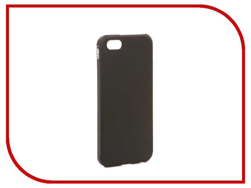 Аксессуар Чехол для APPLE iPhone 5 / 5S / 5SE Red Line Extreme Black УТ000012500 аксессуар чехол innovation jeans для apple iphone 5g 5s 5se beige 10761