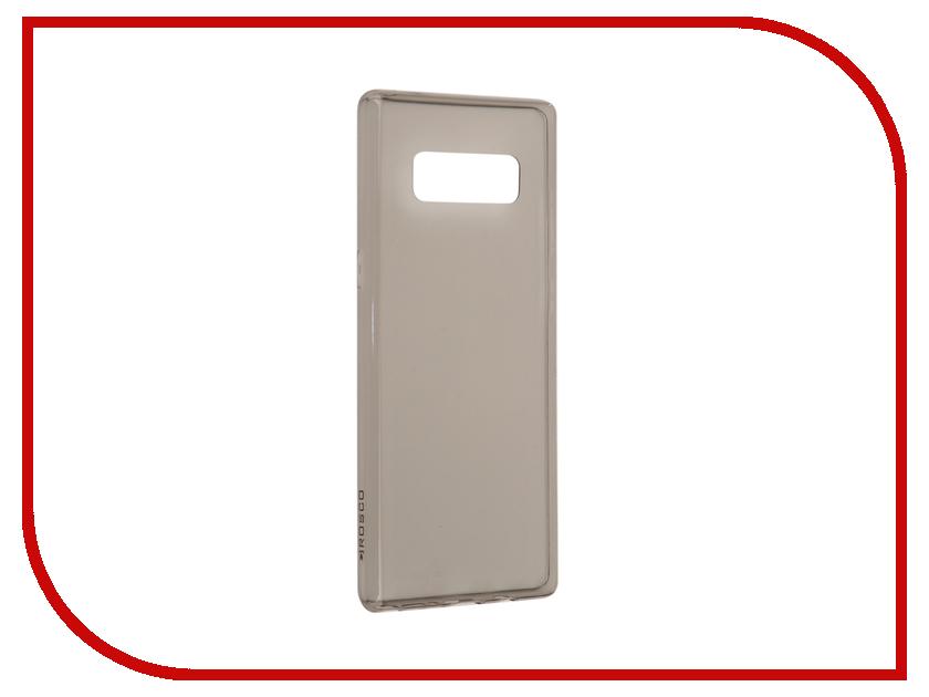 Аксессуар Чехол Samsung Galaxy Note 8 BROSCO Silicone Black SS-N8-TPU-BLACK аксессуар чехол xiaomi mi6 brosco silicone black xm mi6 tpu black