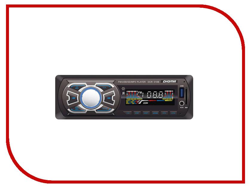 Автомагнитола Digma DCR-310B автомагнитола digma dcr 110b