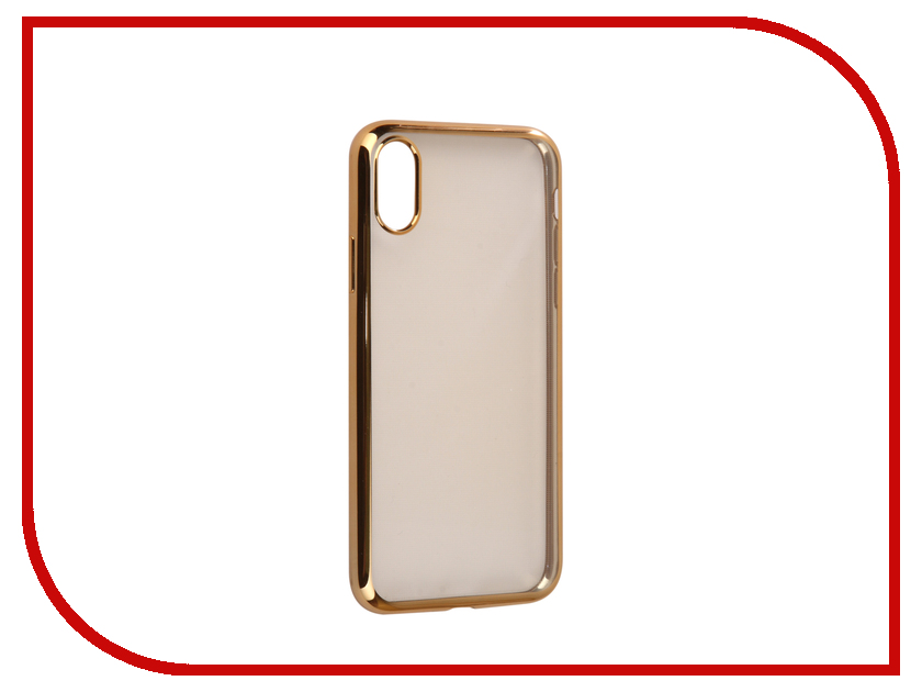 Аксессуар Чехол для APPLE iPhone X / XS iBox Blaze Silicone Golden Frame аксессуар чехол для apple iphone x ibox crystal silicone transparent