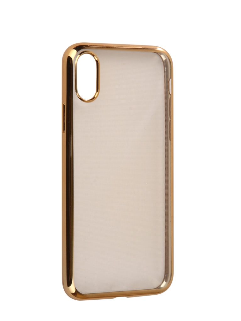 Аксессуар Чехол iBox для APPLE iPhone X / XS Blaze Silicone Golden Frame аксессуар чехол ibox для apple iphone x crystal silicone transparent