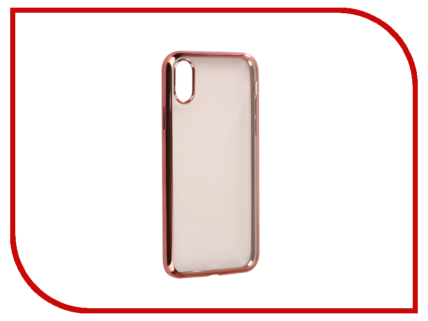 Аксессуар Чехол для APPLE iPhone X / XS iBox Blaze Silicone Pink Frame стоимость