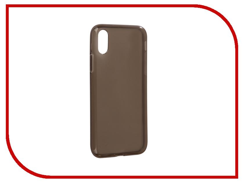 Аксессуар Чехол iBox Crystal Silicone для APPLE iPhone X Grey аксессуар чехол ibox premium y для apple ipad 2017 black