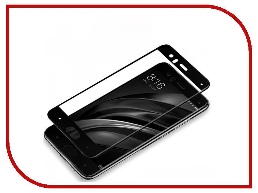 Аксессуар Защитное стекло Xiaomi Mi6 5.15 Full Screen Red Line 3D Tempered Glass Black аксессуар чехол xiaomi mi6 brosco silicone black xm mi6 tpu black