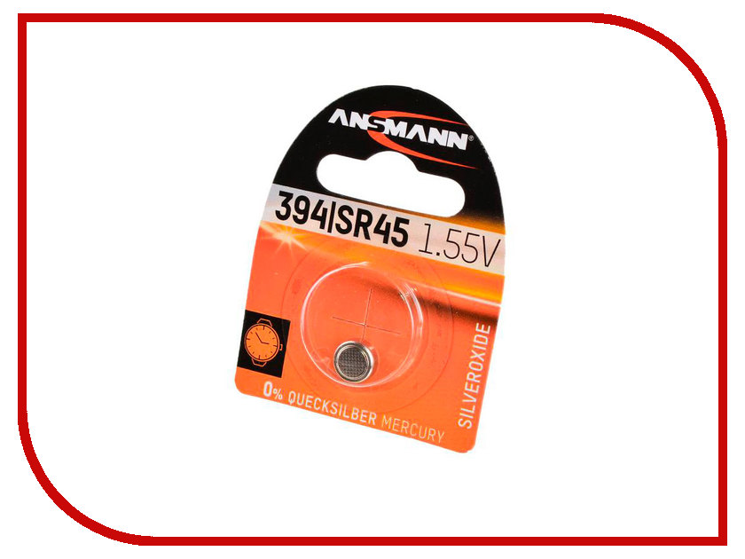 Батарейка SR-45 - Ansmann BL1 1516-0016 батарейка cr3032 ansmann 1516 0013 bl1