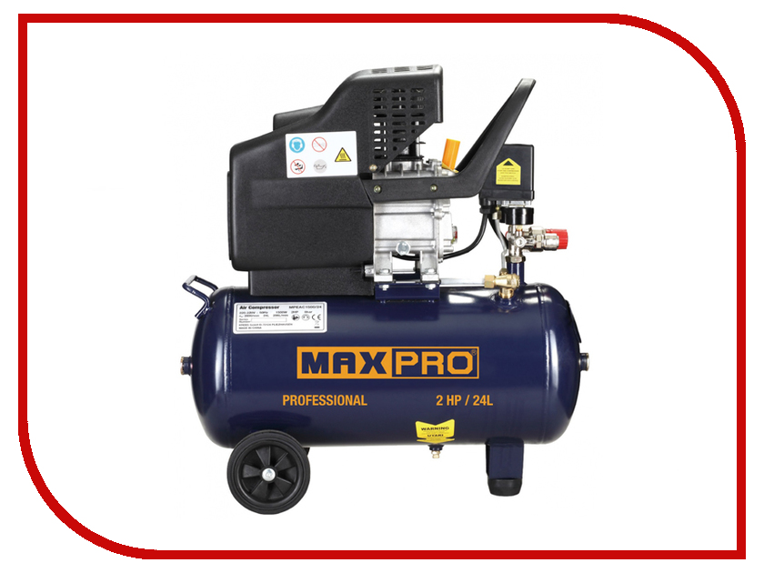 Компрессор Max-Pro MPEAC1500/24 85293 рубанок max pro mppl900 3dr 85223