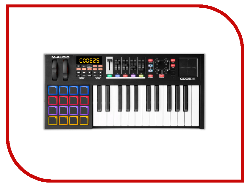 MIDI-клавиатура M-Audio Code 25 Black bx6 carbon m audio