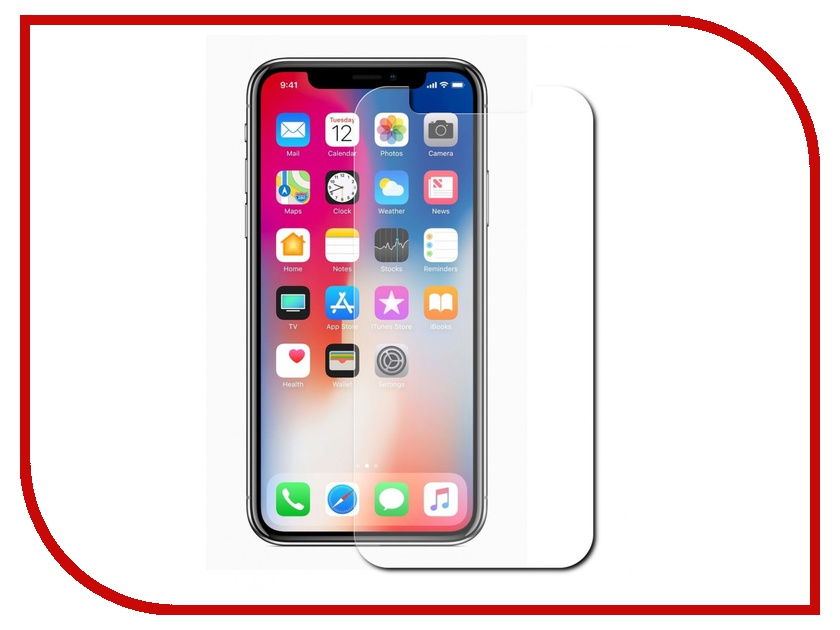 Аксессуар Защитное стекло Red Line Tempered Glass для APPLE iPhone X УТ000012291 matte protective pe back case for htc one x s720e red