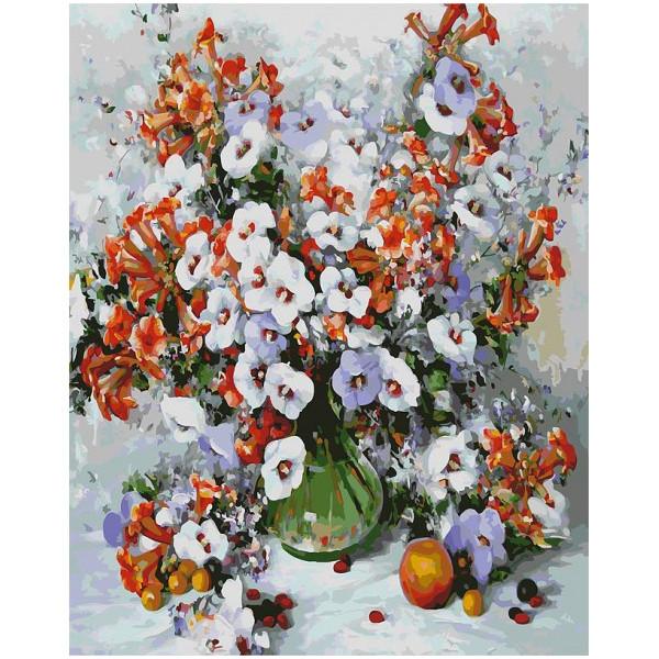 Картина по номерам Белоснежка Городские цветы 018-AB цена