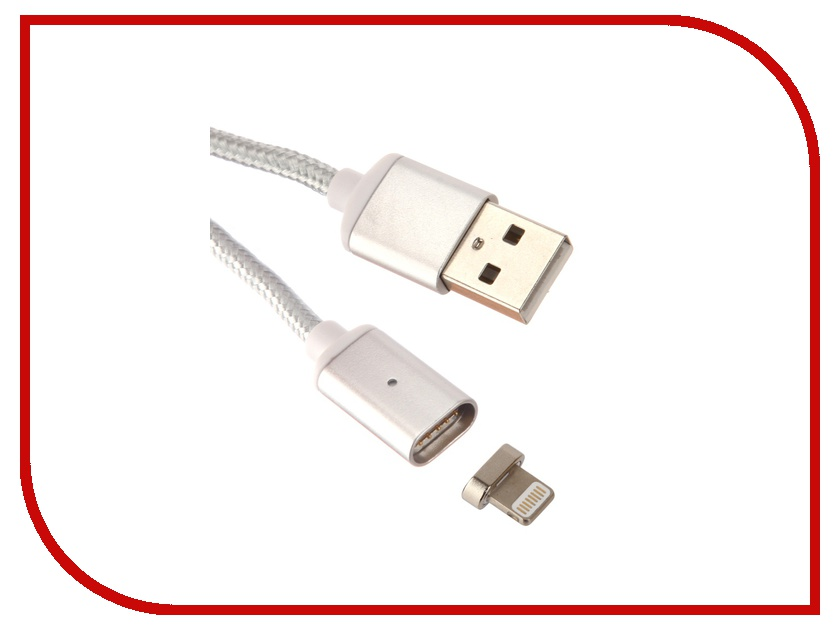 Аксессуар Red Line Magnetic USB - Lightning 8 pin Silver УТ000012860 аксессуар red line magnetic usb lightning 8 pin silver ут000012860