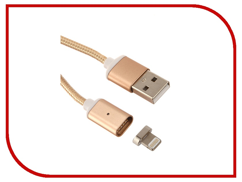 Аксессуар Red Line Magnetic USB - Lightning 8 pin Gold УТ000012859