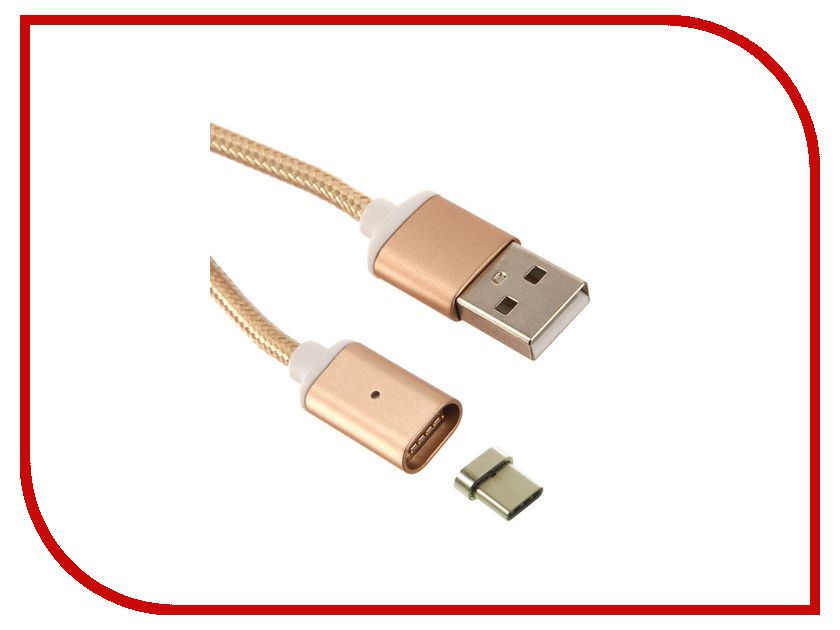 Аксессуар Red Line Magnetic USB - USB Type-C Gold кабель red line usb – usb type c 1m green