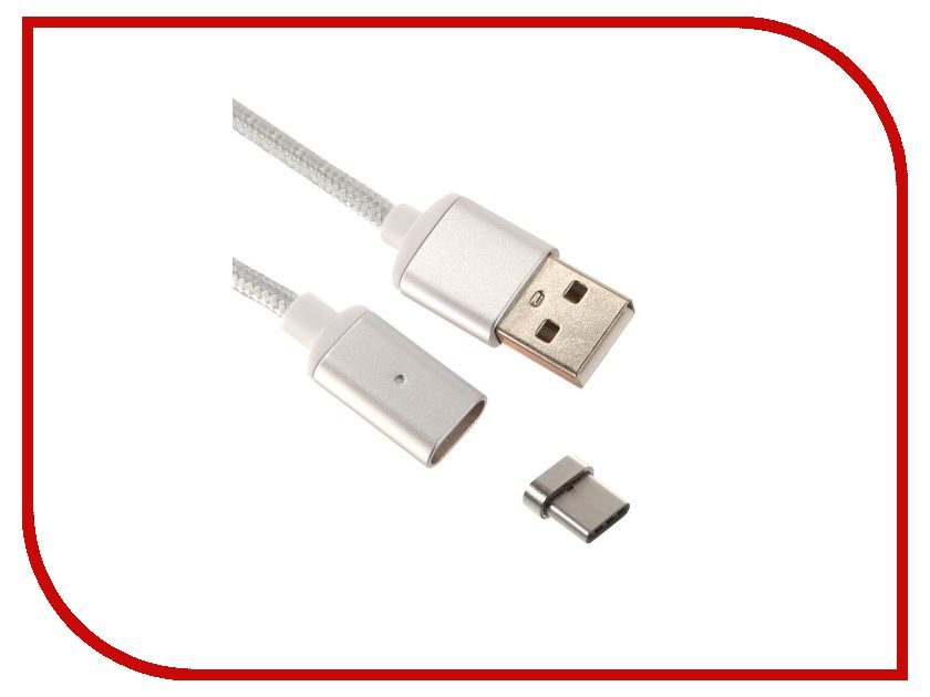 Аксессуар Red Line Magnetic USB - microUSB Silver УТ000012857 аксессуар red line fit usb microusb blue ут000015526