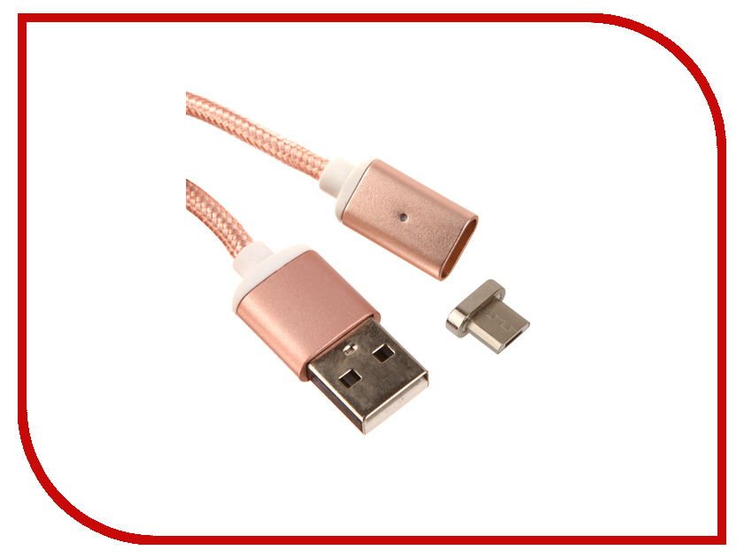 все цены на Аксессуар Red Line Magnetic USB - microUSB Pink