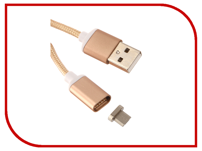 Аксессуар Red Line Magnetic USB - microUSB Gold УТ000012856 аксессуар red line fit usb microusb blue ут000015526