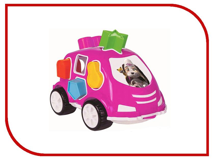 Сортер Pilsan Машинка Pink 03-187 машинка сортер музыкальная