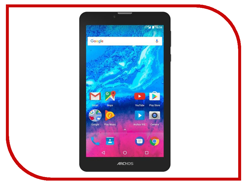 Планшет Archos Core 70 3G 503508 (MediaTek MT8321 1.3 GHz/1024Mb/8Gb/GPS/3G/Wi-Fi/7.0/1280x720/Android) планшет digma plane 1601 3g ps1060mg black