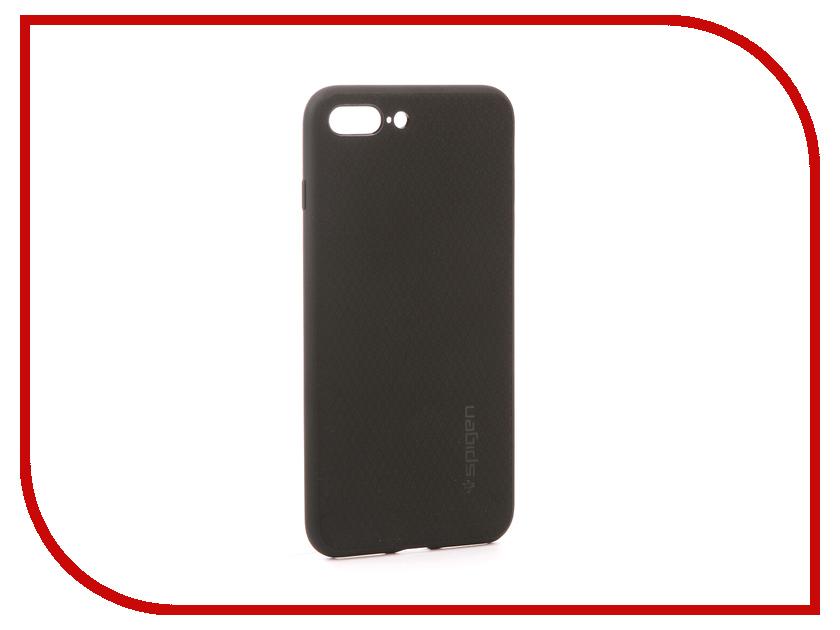 аксессуар чехол spigen airskin для apple iphone 7 plus transparent mat 043cs20499 Аксессуар Чехол Spigen Liquid Armor для APPLE iPhone 7 / 8 Plus Black 043CS20525