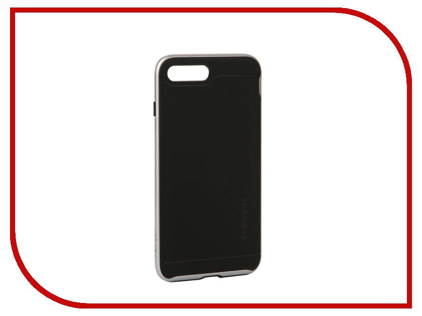 аксессуар чехол spigen airskin для apple iphone 7 plus transparent mat 043cs20499 Аксессуар Чехол Spigen Neo Hybrid 2 для APPLE iPhone 7 / 8 Plus Silver 055CS22374