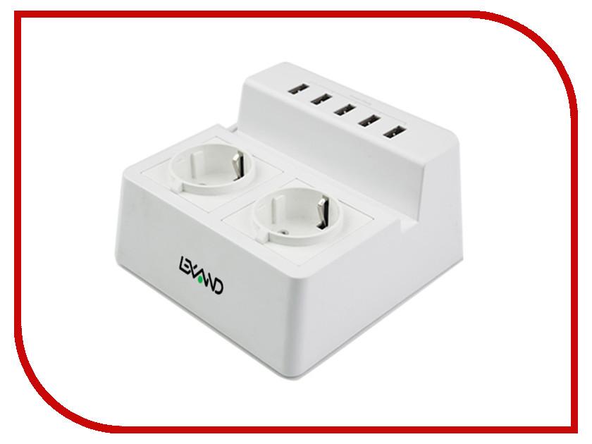 Зарядное устройство Lexand LP-520 5xUSB White lexand lr50 gray