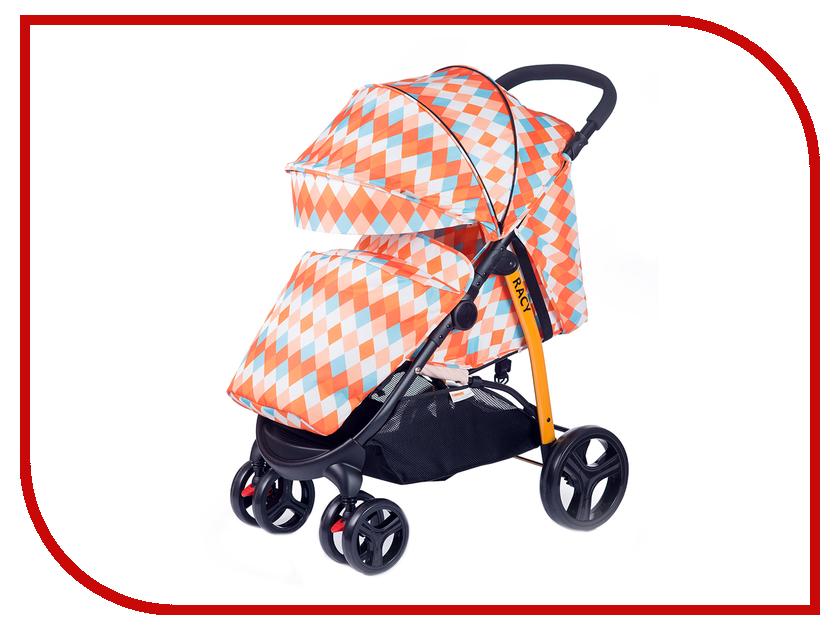 Коляска BabyHit Racy Orange-Rhombuses
