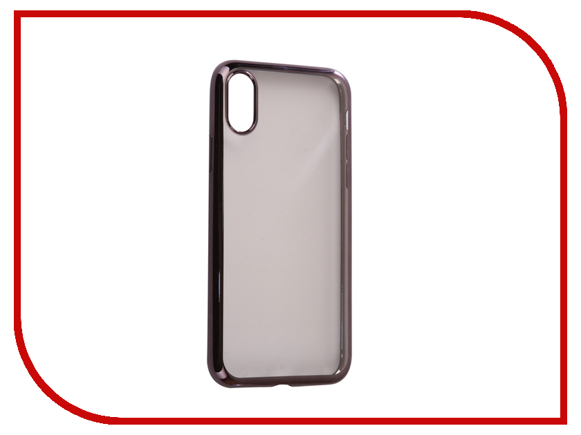 Аксессуар Чехол Svekla Flash Silicone для iPhone X Black Frame SVF-APX-BL аксессуар чехол huawei honor 6c svekla flash silicone black svf hwh6c bl