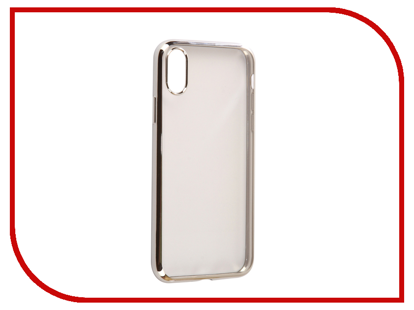 Аксессуар Чехол Svekla Flash Silicone для iPhone X Silver Frame SVF-APX-SIL аксессуар чехол samsung galaxy a5 2017 a520f svekla flash silicone silver frame svf sga520f sil
