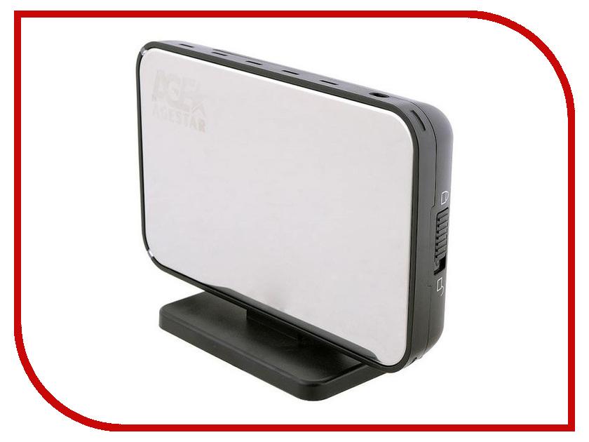 все цены на Аксессуар Внешний корпус для HDD AgeStar 3UB3A8-6G Silver онлайн