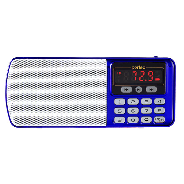 Радиоприемник Perfeo Егерь FM+ i120 Blue
