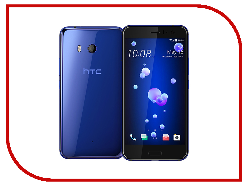 Сотовый телефон HTC U11 64Gb Blue gangxun htc u11 case card слоты кошелек кожа pu flip kickstand anti shock cover для htc u11